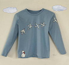 Tričká - Detské maľované tričko