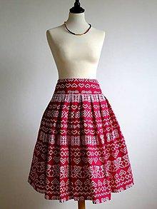 Sukne - červená folk sukňa Čičmany - 8915586_