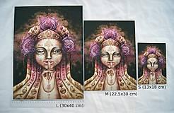 - Portrét z hmly Fine Art Print, S-XL, papier/doska (L 30x40 cm) - 8915775_