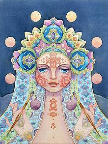 Obrazy - Akvarel Fine Art Print, S-XL, papier/doska - 8916186_