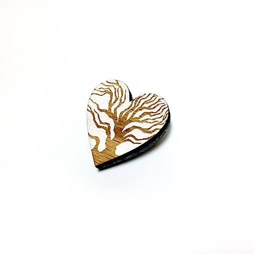 Srdce stromu brošňa