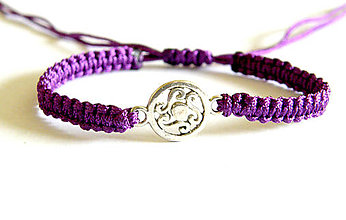 Náramky - celtic violet shamballa - 8917318_