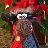 Návody a literatúra - Vianočny háčkovaný los Bob - návod na háčkování - 8918369_