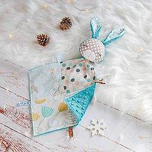 Hračky - Mojkáčik zajko - petrolejový patchwork - 8915159_