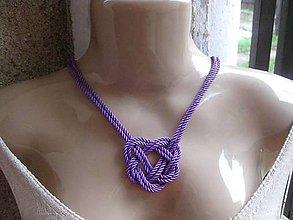 Náhrdelníky - Uzlový náhrdelník (Fialový č.1668) - 8916324_