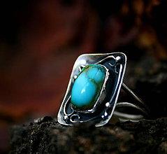 Prstene - Nebo, Peklo, Raj - strieborný prsteň s pravým tyrkysom - 8916479_