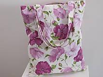 Nákupné tašky - ...maky fialové... - 8914884_