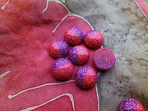 Komponenty - Trblietavé kabošony dvojfarebné - pár (Ružovofialová) - 8916473_