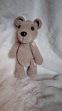 Hračky - Hačkovaný medvedík - 8914735_