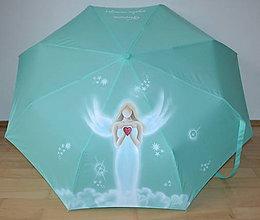 Iné doplnky - ručne maľovaný dáždnik - anjel - 8915692_