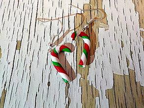 Náušnice - vianočné lízatká - 8917285_