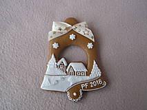Dekorácie - medovníkový vianočný zvonček - 8920989_