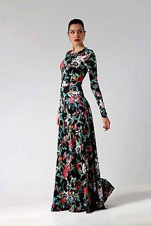 Šaty - Dlhé šaty so vzorom - 8921444_