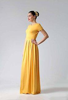 Šaty - Dlhé žlté šaty - 8921537_
