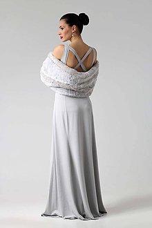Šaty - Dlhé šaty s krížom na chrbte - 8921680_