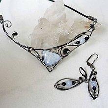 Sady šperkov - Ledové království - chalcedon souprava - 8918962_