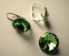 Sady šperkov - Šperky SWAROVSKI set okrúhly zelený - 8918695_