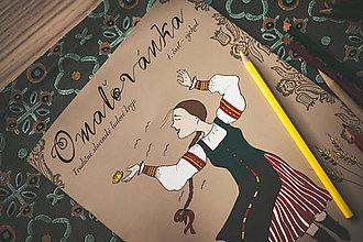 Hračky - Omaľovánka kroje 1.diel - 8922363_