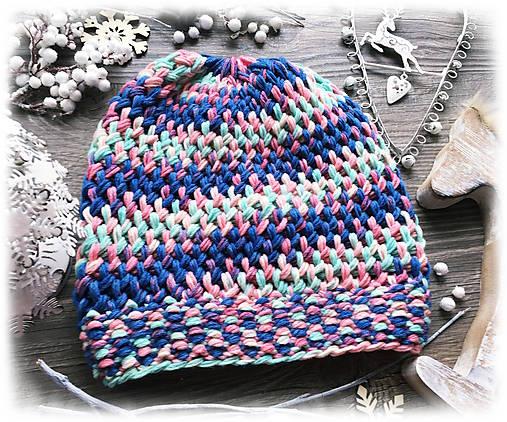 Čiapka - farbená vlna