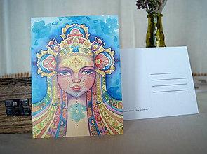 Papiernictvo - Pohľadnica Dievča a Všehomír - 8918830_