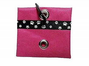 Pre zvieratká - Zásobník na WC vrecká ružový - 8921580_