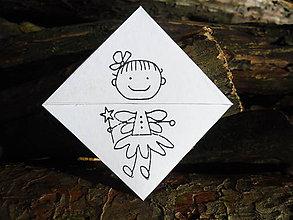 Papiernictvo - Záložka - Maličká vílička - 8919864_
