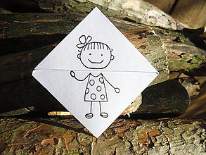 Papiernictvo - Záložka - Dievčatko - 8919868_