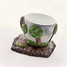 Nádoby - Voňavý les pred dažďom - šálka na kávu (labradorit, ametyst, karneol, citrín, peridot) - 8921925_
