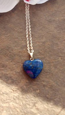 Iné šperky - srdiečko Lapis Lazuri - 8920084_