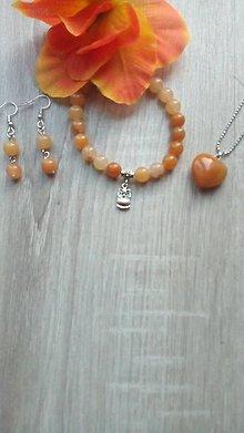 Sady šperkov - Set medový jadeit - 8920487_