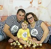 Tričká - Rodinná sada tričiek - pásiky - 8919836_