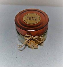 Svietidlá a sviečky - Sviečka z včelieho vosku v skle s motýlikmi - 8922371_