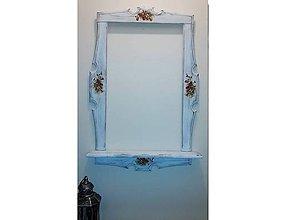 Zrkadlá - Rám na zrkadlo, patina, Decoupage - 8922495_