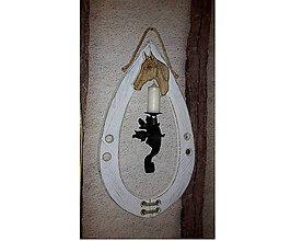 Dekorácie - Chomút s hlavou koníka, patina - 8922498_