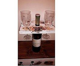 Dekorácie - Polička na flašu vina - 8922505_