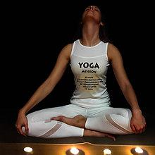 Tričká - YOGA MISSION - tričko s joga výzvou na zaškrtávanie - 8920965_