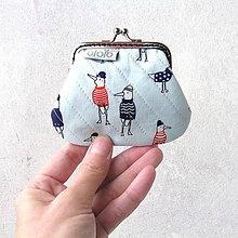 Peňaženky - Peňaženka mini Vtáči bratia v tričku - 8919129_