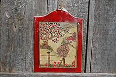 Obrázky - Keramický obrázok Za plotom - 8919622_