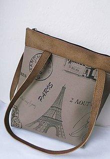 Kabelky - Paríž v hnedom/1 - 8920041_