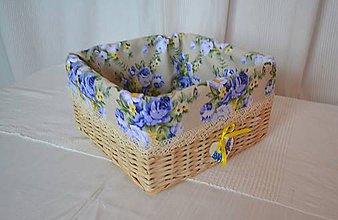 Košíky - Modré ruže - 8919549_