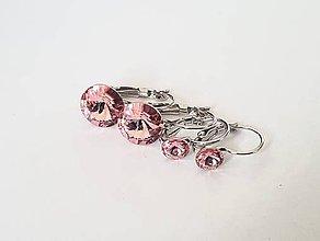 Sady šperkov - Set Swarovski RIVOLI ružový - 8919895_