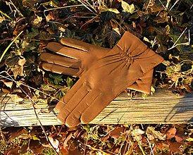 Rukavice - Výprodej - kožené dámské rukavice, II jakost - 8918462_