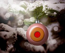 Grafika - Vianočná guľa (grafický obrázok) - vianočné cukrovie - 8919577_