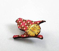 Odznaky/Brošne - Vtáčik Knihomoľ - 8926239_