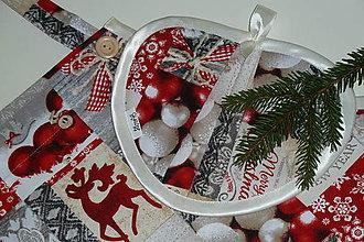 Iné oblečenie - Zásterka + chňapka Vianočný jeleň - 8924823_