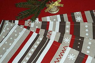 Úžitkový textil - Prestieranie Vianočné pásiky - 8925028_