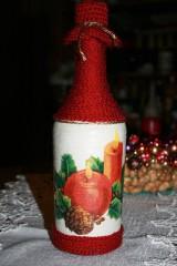 Nádoby - Vianočná fľaša - sviečky - 8925423_