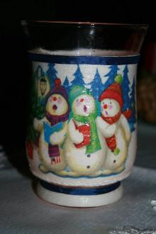 Svietidlá a sviečky - Svietnik - snehuliaky - 8925275_