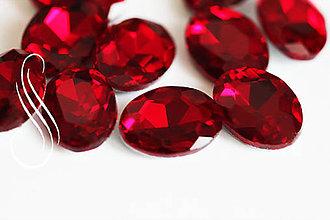 Komponenty - kabošon sklenený red oval 10x14/1ks - 8926170_