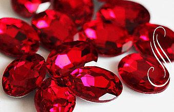 Komponenty - sklenený kabošon red oval 13x18/1ks - 8926208_